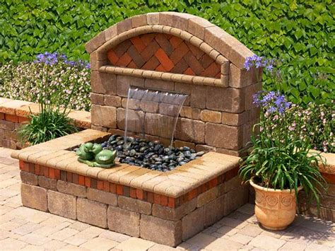 backyard water fountains outdoor garden wall fountains design ideas models home