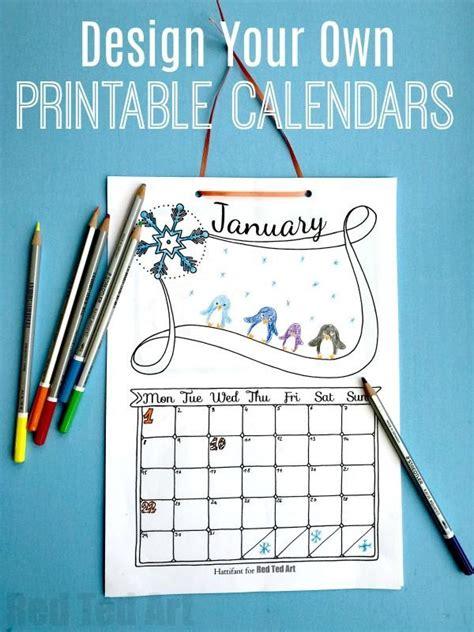 cute printable calendar bgc craft ideas diy calendar