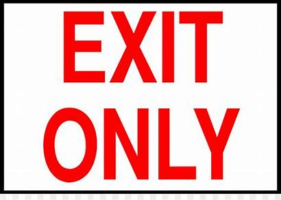 Exit Clipart Sign Banner Library Transparent Clipground