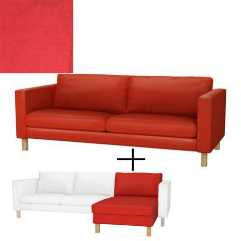slipcover for sofa with chaise ikea karlstad 3 seat sofa and chaise slipcover cover