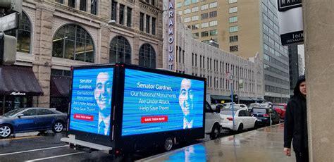 gmc savana p led billboard truck led mobile