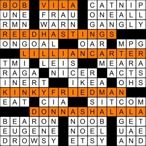 Clinton Cabinet Member Donna Crossword by Weekly Crossword Contest Matt Gaffney S Weekly Crossword