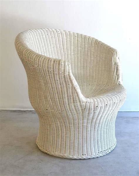 mid century woven rattan tub chair or occasional