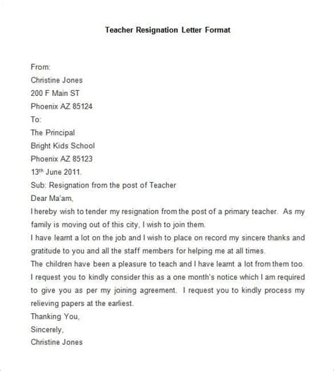 resignation letter template word  ipages