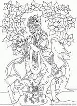 Coloring Krishna Radha Drawing Colour Lord Clipart Pages Popular Library Coloringhome sketch template