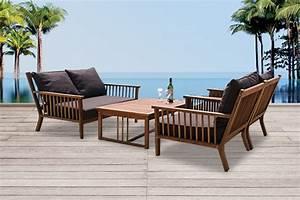 Lounge Gartenmöbel Holz : holz gartenm bel lounge sessel stuhl tisch bank belleair ~ Indierocktalk.com Haus und Dekorationen