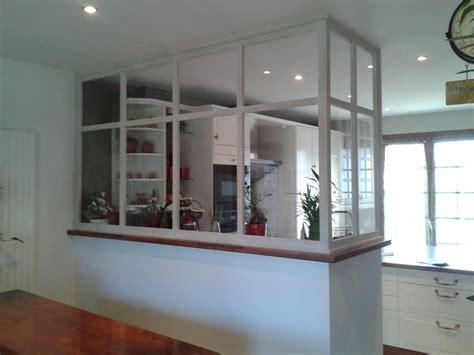 cloison cuisine réalisation verrière en bois cloison séparation de pièce
