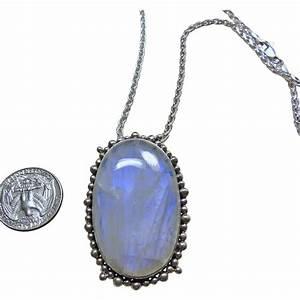 Blue Flash Rainbow Tibetan Moonstone Sterling Silver ...