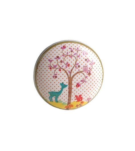 bouton de tiroir enfant bouton de meuble enchant 233 petit cerf en porcelaine boutons mandarine