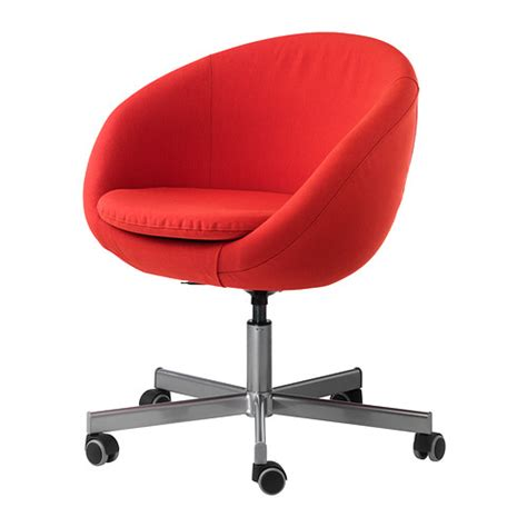 fauteuil de bureau ikea skruvsta chaise pivotante vissle orange ikea