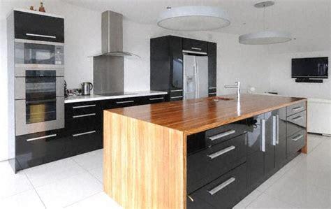moderne ilot de cuisine clair bois plan travail en pictures