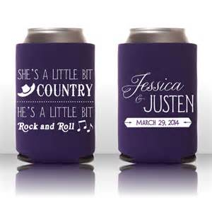 custom wedding koozies sunday inkspiration country rock n roll personalized koozies unique wedding ideas inked