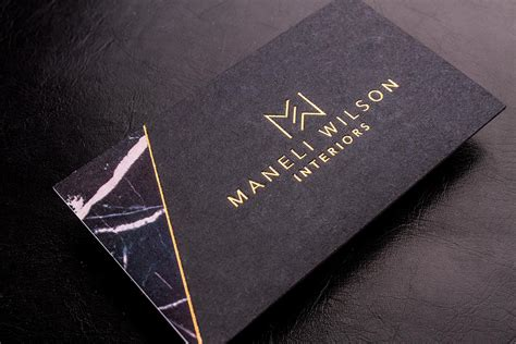 black business cards luxury printing