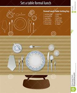 Table Setting Formal Lunch Stock Vector  Illustration Of Banquet