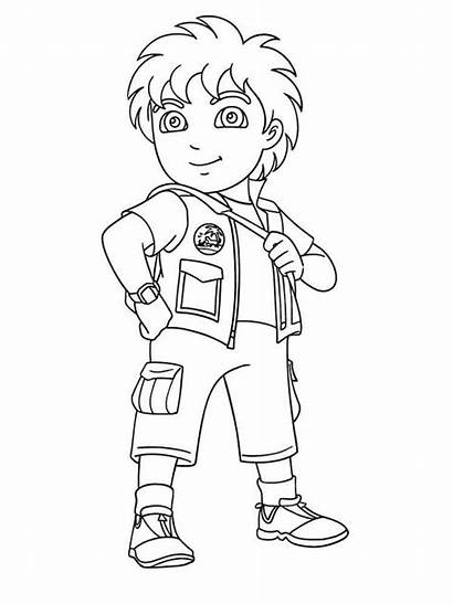 Diego Coloring Pages Boy Latino Olds Drawing
