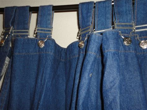 walmart 1 buckles tab blue jean denim curtain panel 56 x