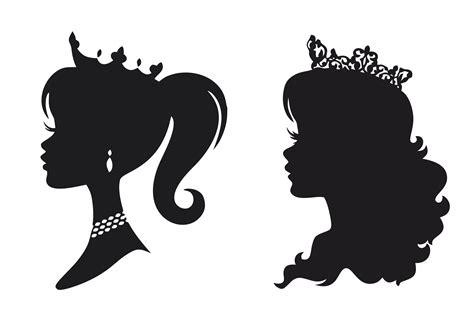 princess stencil silhouettes  vector cdr