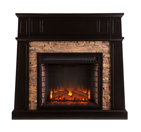crestwick faux stone electric media fireplace