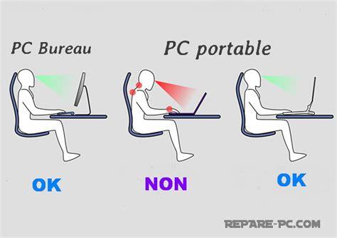 posture bureau bonne position de travail sur votre ordinateur