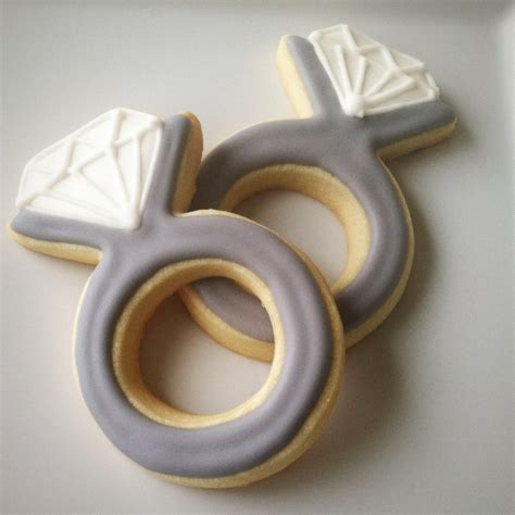 engagement ring cookies diamond ring cookies by bitesbakedgoods 33 00 bakery pinterest