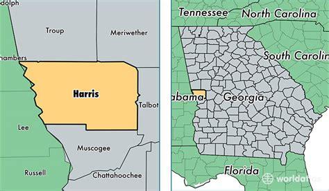harris county georgia map  harris county ga