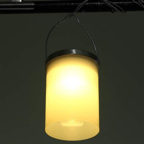 solar powered hanging cylinder outdoor light led landscape