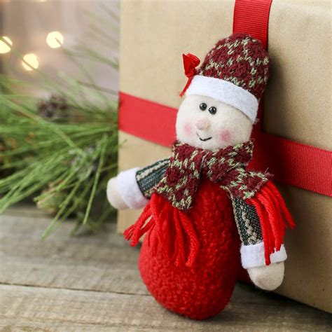 plush  claus christmas ornament christmas ornaments