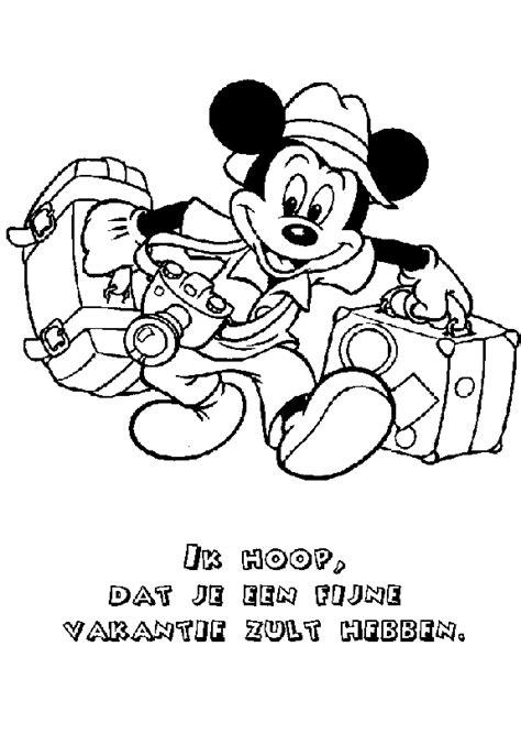 Kleurplaat Mickey Mouse Zomer by Mickey Mouse Kleurplaat Disney Kleurplaat 187 Animaatjes Nl