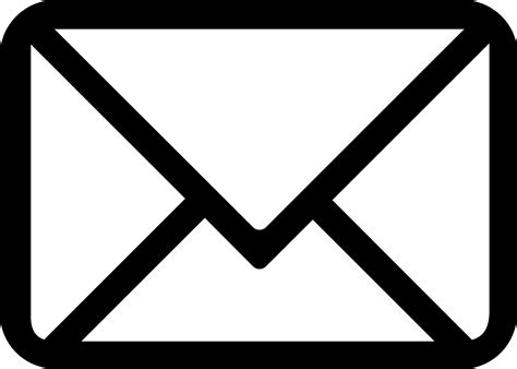 white mail icon vector png best hd email icon mono vector file free vector library