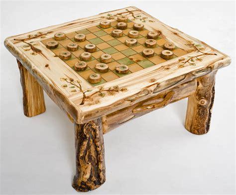 Rustic Checker Board Table