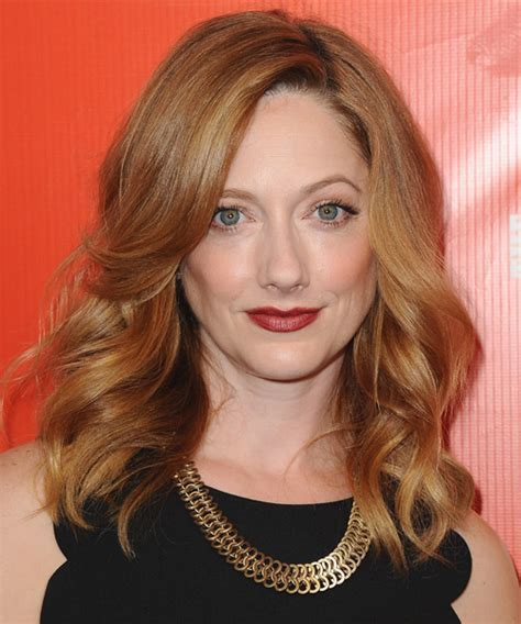 Judy Greer Medium Wavy Formal Hairstyle