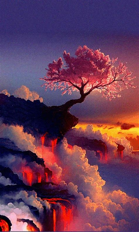 fantasy lava tree  wallpaper apk