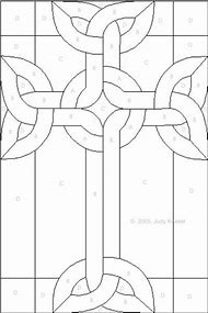 Celtic Cross Stained Glass Pattern