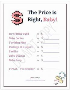 9 best images of printable price is right games free With free printable price is right baby shower game template