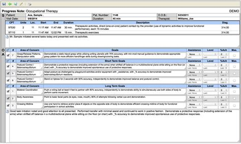 comprehensive neuro physical therapy template therapy documentation software soap notes clinicsource