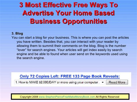 3 Most Effective Free Ways To Advertise Your Home Based Business Oppo…