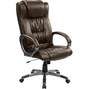flash furniture double padded leather executive high back