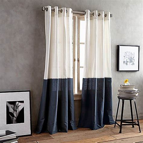 dkny curtains drapes buy dkny color band 95 inch grommet top window curtain