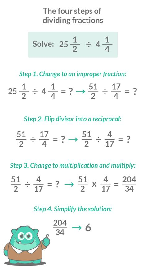 divide fractions   easy steps  pictures