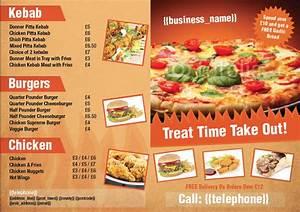folded leaflet design templatecloudcom With takeaway menu design templates