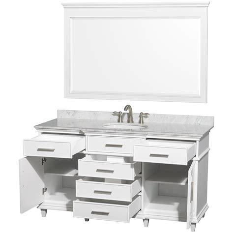 60 inch vanity cabinet single sink ackley 60 inch white finish single sink bathroom vanity