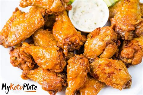 chicken keto fryer air buffalo sauce wings crispy tenders wing