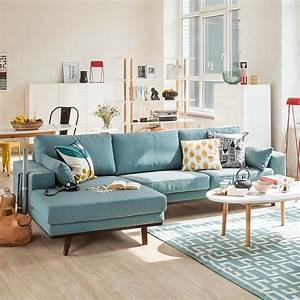 Sofa Skandinavisch Schlaffunktion : m rteens ecksofa billund webstoff aqua nordic chic ~ Watch28wear.com Haus und Dekorationen