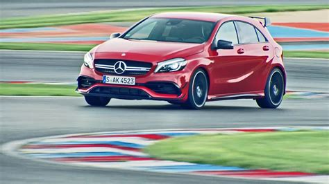 2016 Mercedes-AMG A 45 4MATIC - Test on Racetrack - YouTube