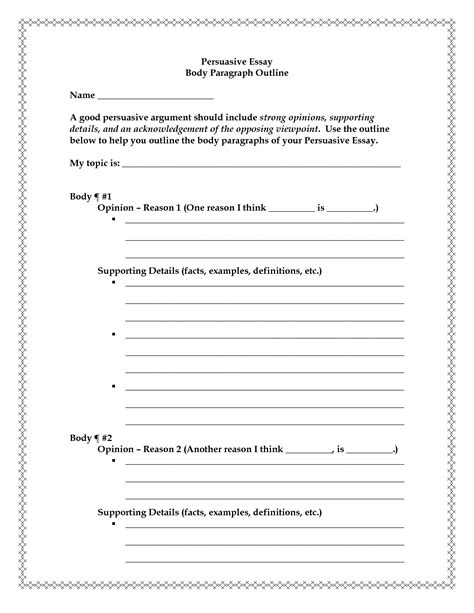 15 Best Images Of Persuasive Essay Outline Worksheet. Funny Birthday Messages For Mom. Free Process Map Template. Kitchen Porter Job Description Template. Campaign Manager Resume Sample