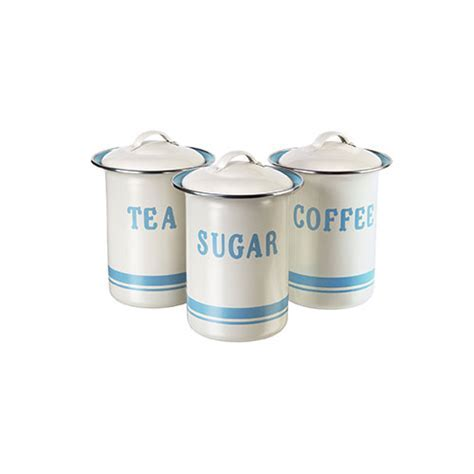 Jamie Oliver Coffee, Tea & Sugar Set Duck Egg & Cream