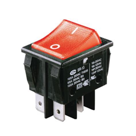 interrupteur  bascule bipolaire    lumineux rouge