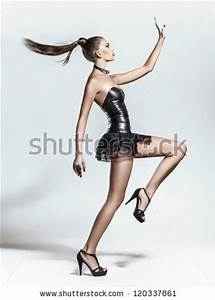 Fashion model posing on white background in the studio ...