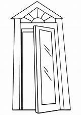 Door Coloring Pages Coloringway sketch template