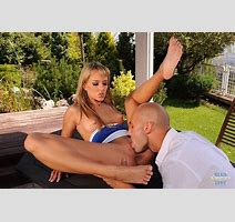 Sexy Legged Beauty Blue Angel Gets Her Feet Admired And Her Pussy Banged